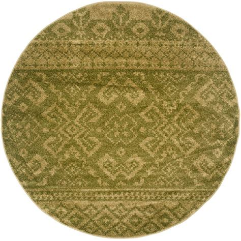 Safavieh Adirondack Green Dark Green 4 Ft X 4 Ft Round 4 Ft Area Rugs
