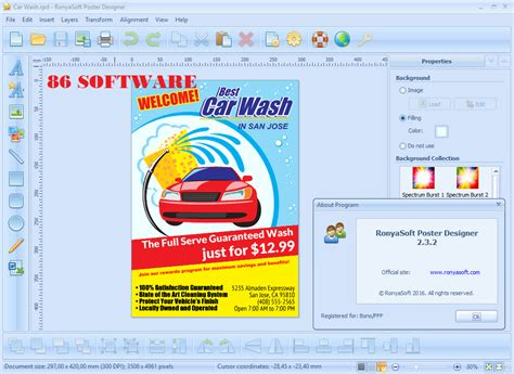 poster layout software ronya soft poster design poster forge 2 3 2 final full