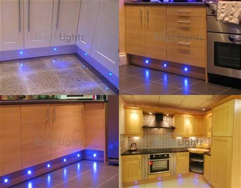 Kitchen Lighting Sets Set Of 10 Led Deck Lights Decking Plinth Kitchen Lighting Set Blue 30mm