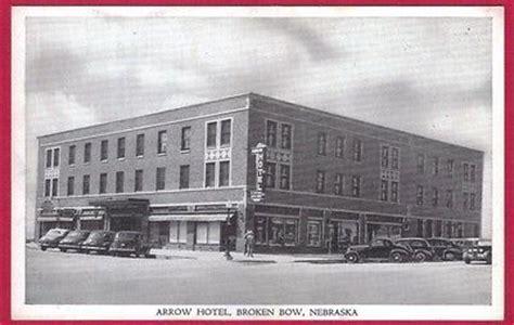 1940 s broken bow ne arrow hotel coffee shop postcard
