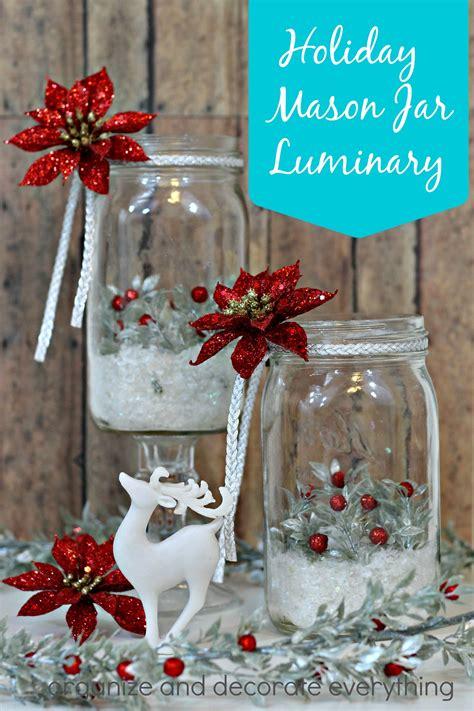 holiday mason jar luminary madewithmichaels organize