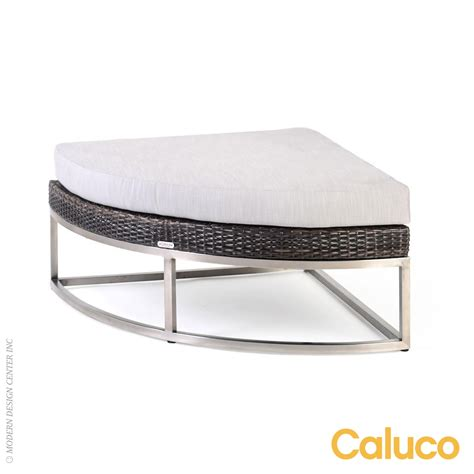 Caluco Patio Furniture Mirabella Curved Ottoman Caluco Patio Furniture Metropolitandecor