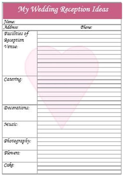 Wedding Location Checklist by Wedding Reception Checklist