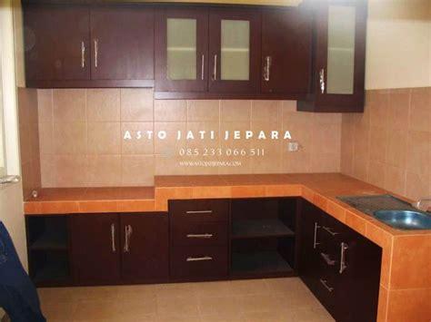 model kitchen set kayu minimalis modern terbaru asto