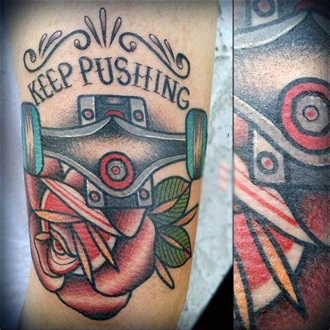skateboard tattoo designs 100 skateboard tattoos for cool designs part two