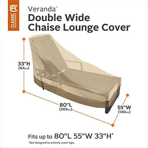 double chaise lounge cover classic accessories veranda double wide chaise lounge