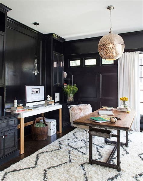 home office design and decor 30 black and white home offices that leave you spellbound