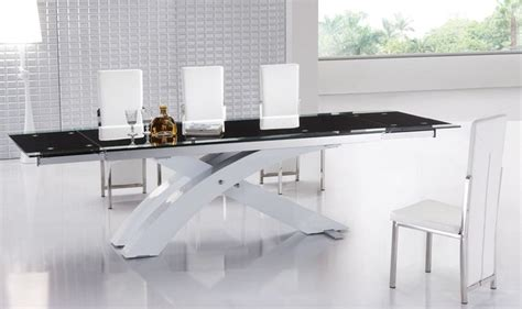 glass top modern dining table extendable glass top modern furniture table set modern