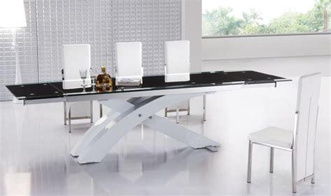 Modern Extending Dining Tables Designer Dining Tables Extendable Glass Top Modern Furniture Table Set Modern