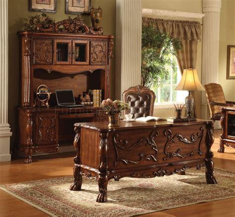 In Home Desk 12169 Dresden Office Desk In Cherry Oak By Acme W Options