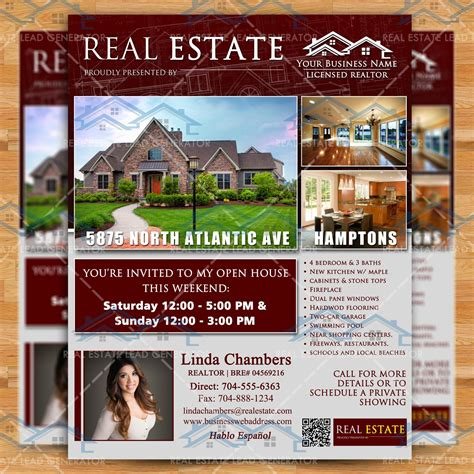 just listed real estate marketing open house flyer template realty