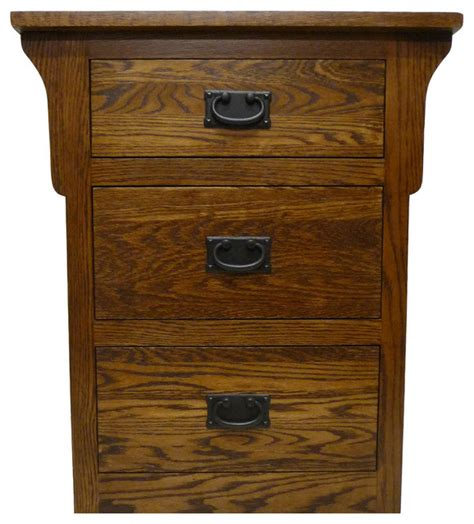 how are nightstands arts and crafts oak 3 drawer nightstand nightstands and