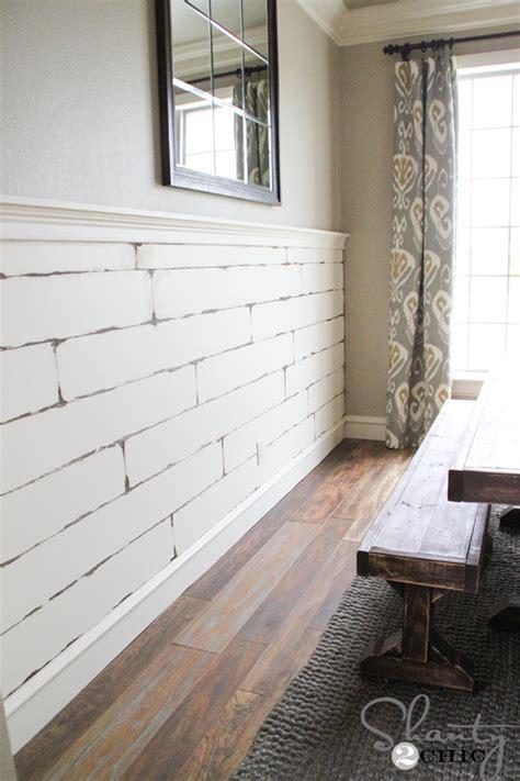 Diy Bedroom Chandelier Diy Distressed Plank Wall Shanty 2 Chic