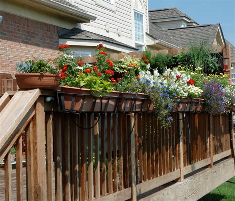 flower pots balcony railings photo balcony ideas beautiful deck rail planters 187 home decorations insight