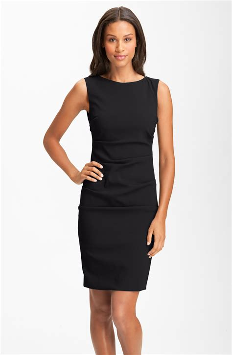 Sleeveless Dress miller sleeveless ruched crepe sheath dress in