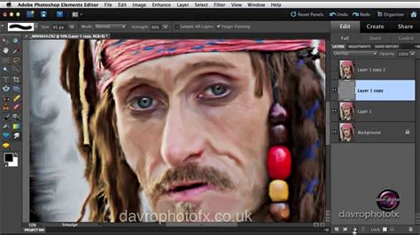 tutorial smudge oil oil painting effect using smudge tool in photoshop youtube