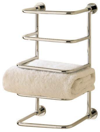 Modern Towel Racks by Essentials 4 Tier Towel Stacker Finish Modern Towel