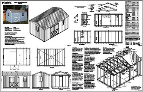 shed plans  storage shed designs  features