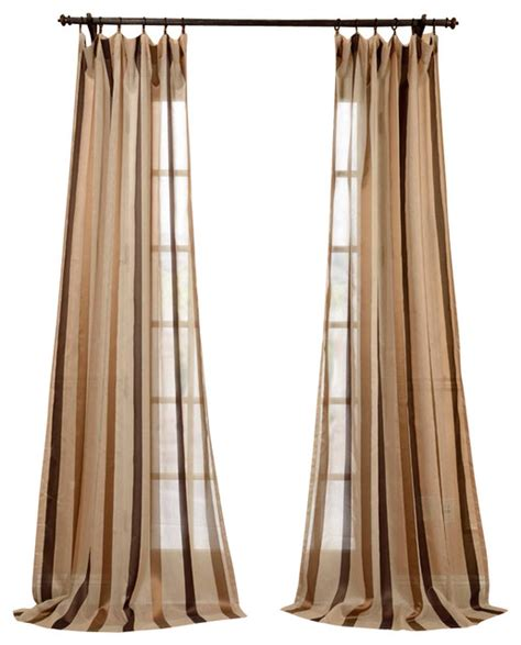 taupe striped curtains carlton taupe linen blend stripe sheer curtain