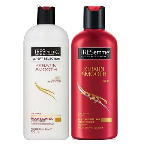 Sho Tressme tresemme keratin smooth shoo and conditioner 500ml