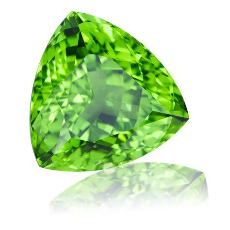 pakistan peridot trillion 12 06ct king gems