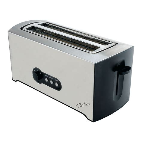 Stainless Steel Four Slice Toaster nero toaster 4 slice stainless steel cos complete office supplies