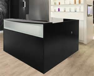 L Shaped Salon Reception Desk Black Salon Reception Desk