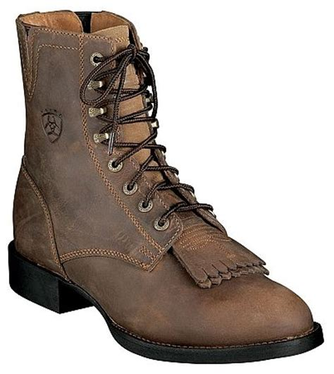most comfortable roper boots ariat lace up cowgirl boots my style pinterest