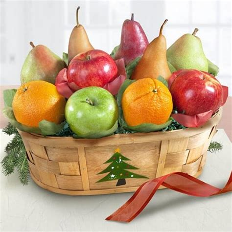merry christmas fruit basket aa4064 a gift inside