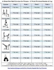 work out plans for at home best butt exercises for women free printable 12 week