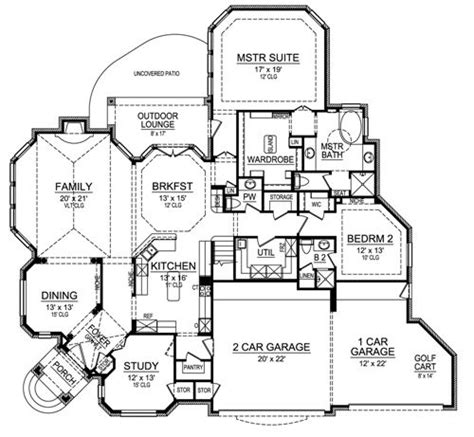 horseshoe house plans horseshoe bay 4690 3 bedrooms and 3 baths the house designers