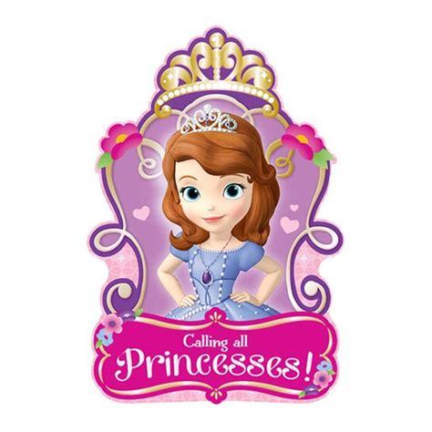 8 sofia the princess birthday invitations