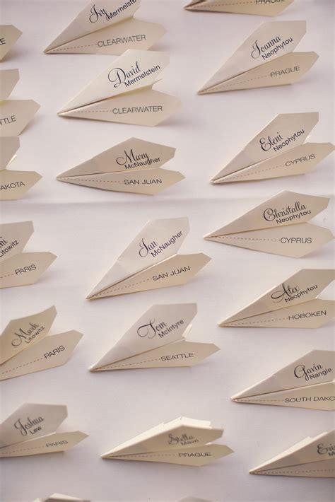 paper airplane place card template ma d 233 coration de mariage fait le tour du monde mariage
