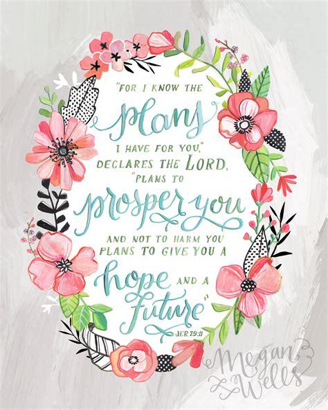 jeremiah 29 11 art print makewells bible verse