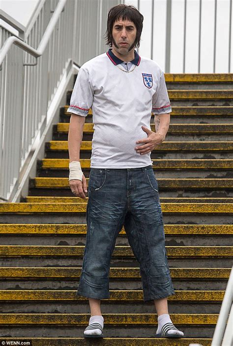 sacha baron cohen new movie sacha baron cohen sports england shirt to film new grimsby