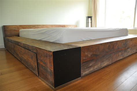 bed frame  profile platform wooden industrial