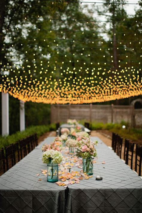30 New Ideas for Your Rustic Outdoor Wedding    Garden weddings, Romantic weddings and Lightning