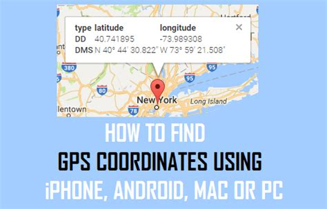How To Find On Gps How To Find Gps Coordinates Using Iphone Android Mac Or Pc