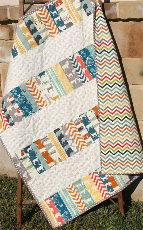 Baby Crib Quilt by Modern Baby Quilt Blanket Nursery Bedding Birch Organic Fabrics Crib Quilt Decor Trees Elk Deer