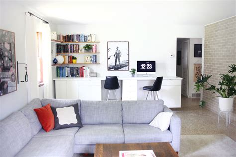 create a home office with betta living make your own custom built in desk a beautiful mess