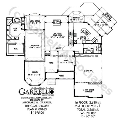grand boise house plan house plans by garrell associates