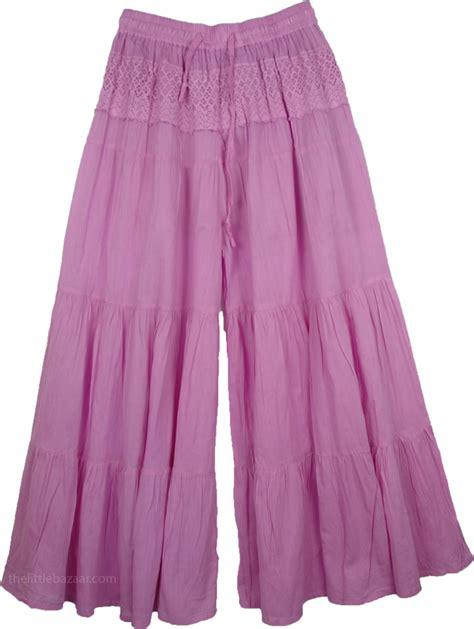 Pant Skirt viola gaucho palazzo split skirt pink split skirts