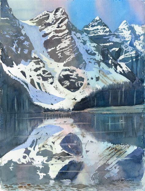 Landscape Rock Vernon Bc Watercolour Landscape Paintings Joan Rowan