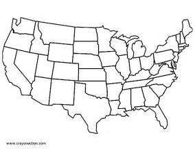 usa map no color continental united states coloring page map crayon