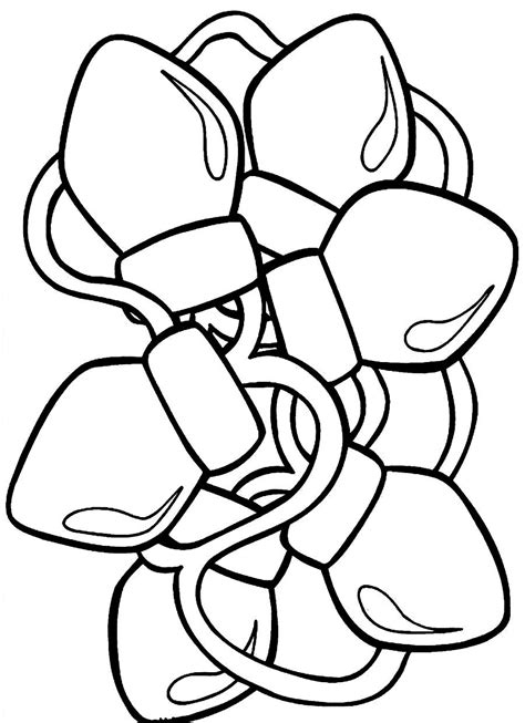 christmas light coloring page cooloring com