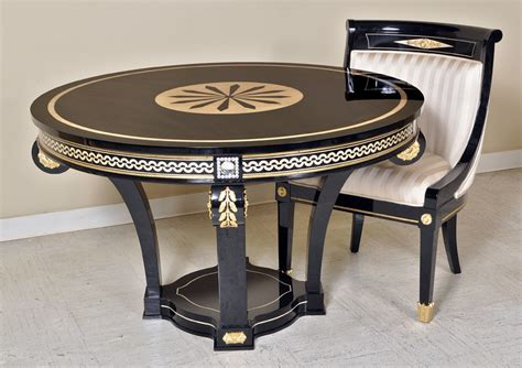 New Style Dining Table New Style Empire Dining Room Furniture Set With Swarovsky Crystals