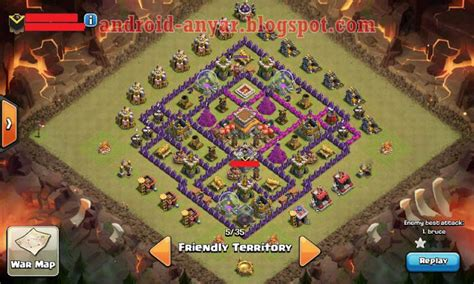 layout coc war base anti naga base th 8 terbaru myideasbedroom com