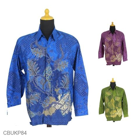 Kemeja Batik Lengan Panjang Parang M881 kemeja prodo panjang motif godhong garut parang kemeja lengan panjang murah batikunik