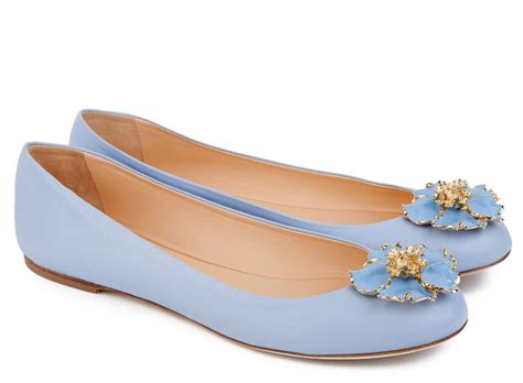 light blue ballet flats ballin light blue nappa leather flower embellished