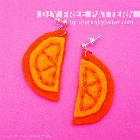 felt orange pattern the funky felter free felt orange slice pattern printable